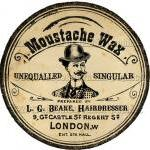Victorian Moustache Wax Tin..